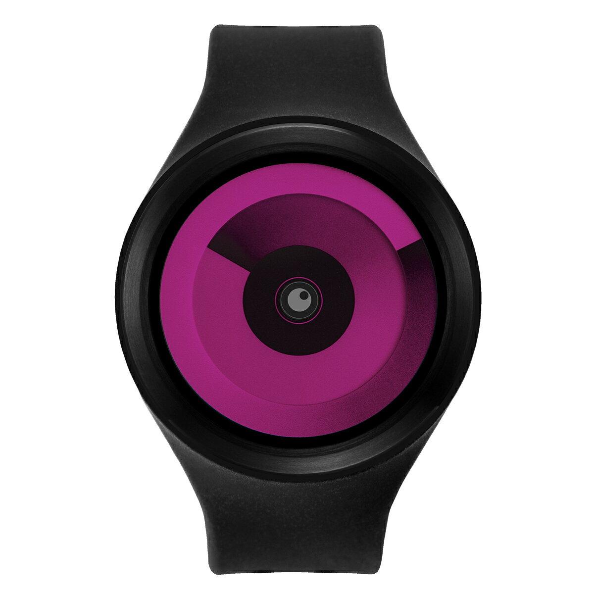 ZEROO SPIRAL GALAXY ゼロ 電池式クォーツ 腕時計 [W00603B03SR02] ブラック デザインウォッチ ペア用 メンズ レディース ユニセックス おしゃれ時計 デザイナーズ