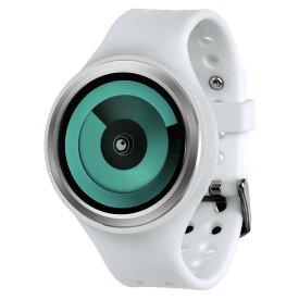ZEROO SPIRAL GALAXY ゼロ 電池式クォーツ 腕時計 [W00604B01SR01] ホワイト デザインウォッチ ペア用 メンズ レディース ユニセックス おしゃれ時計 デザイナーズ