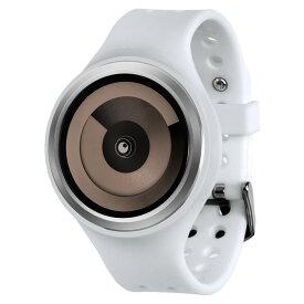 ZEROO SPIRAL GALAXY ゼロ 電池式クォーツ 腕時計 [W00605B01SR01] ホワイト デザインウォッチ ペア用 メンズ レディース ユニセックス おしゃれ時計 デザイナーズ