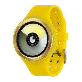 ZEROO AURORA BOREALIS ゼロ 電池式クォーツ 腕時計 [W00702B04SR09] イエロー デザインウォッチ ペア用 メンズ レディース ユニセックス おしゃれ時計 デザイナーズ