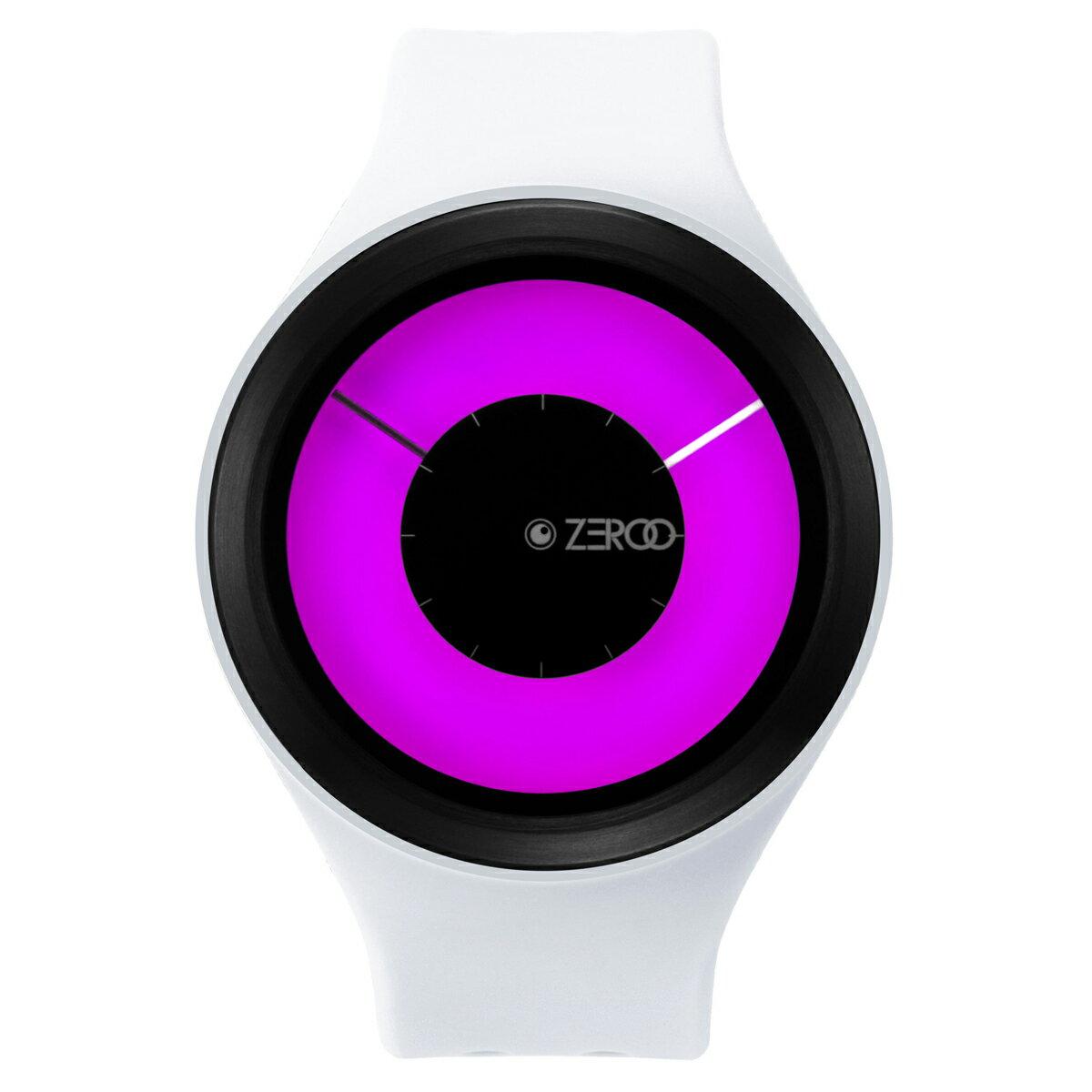 ZEROO MAGIA AURORA ゼロ 電池式クォーツ 腕時計 [W00801B03SR01] ホワイト デザインウォッチ ペア用 メンズ レディース ユニセックス おしゃれ時計 デザイナーズ