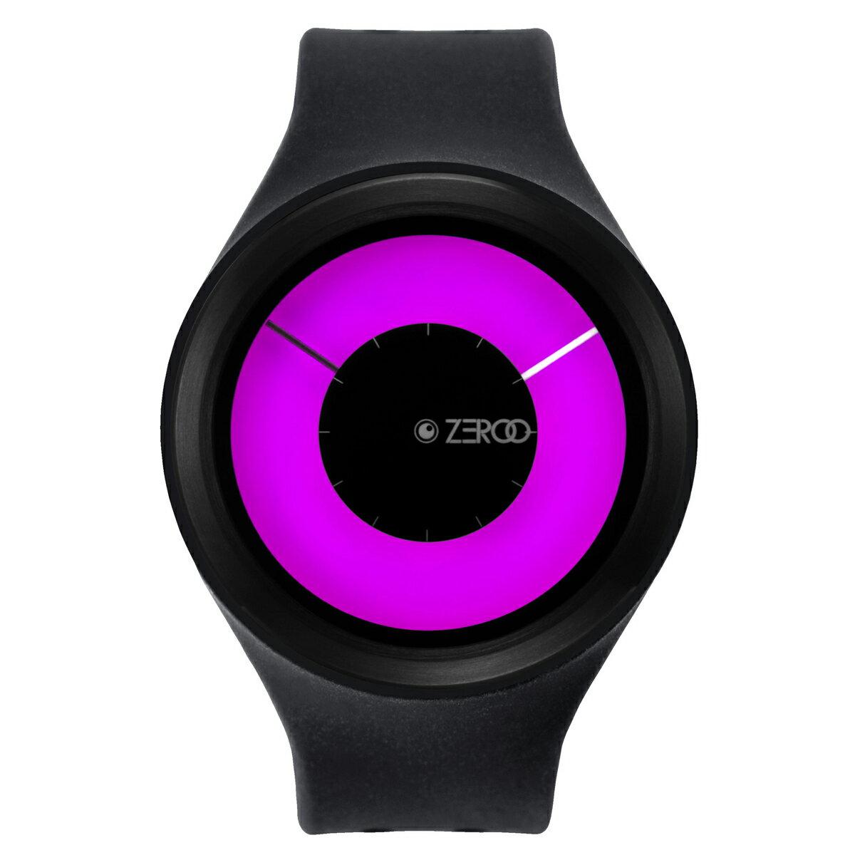 ZEROO MAGIA AURORA ゼロ 電池式クォーツ 腕時計 [W00801B03SR02] ブラック デザインウォッチ ペア用 メンズ レディース ユニセックス おしゃれ時計 デザイナーズ