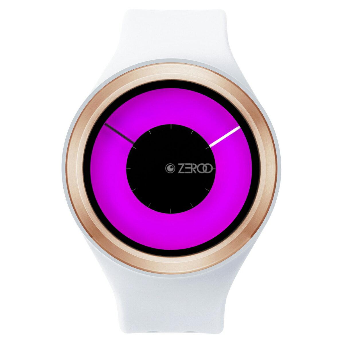 ZEROO MAGIA AURORA ゼロ 電池式クォーツ 腕時計 [W00801B05SR01] ホワイト デザインウォッチ ペア用 メンズ レディース ユニセックス おしゃれ時計 デザイナーズ