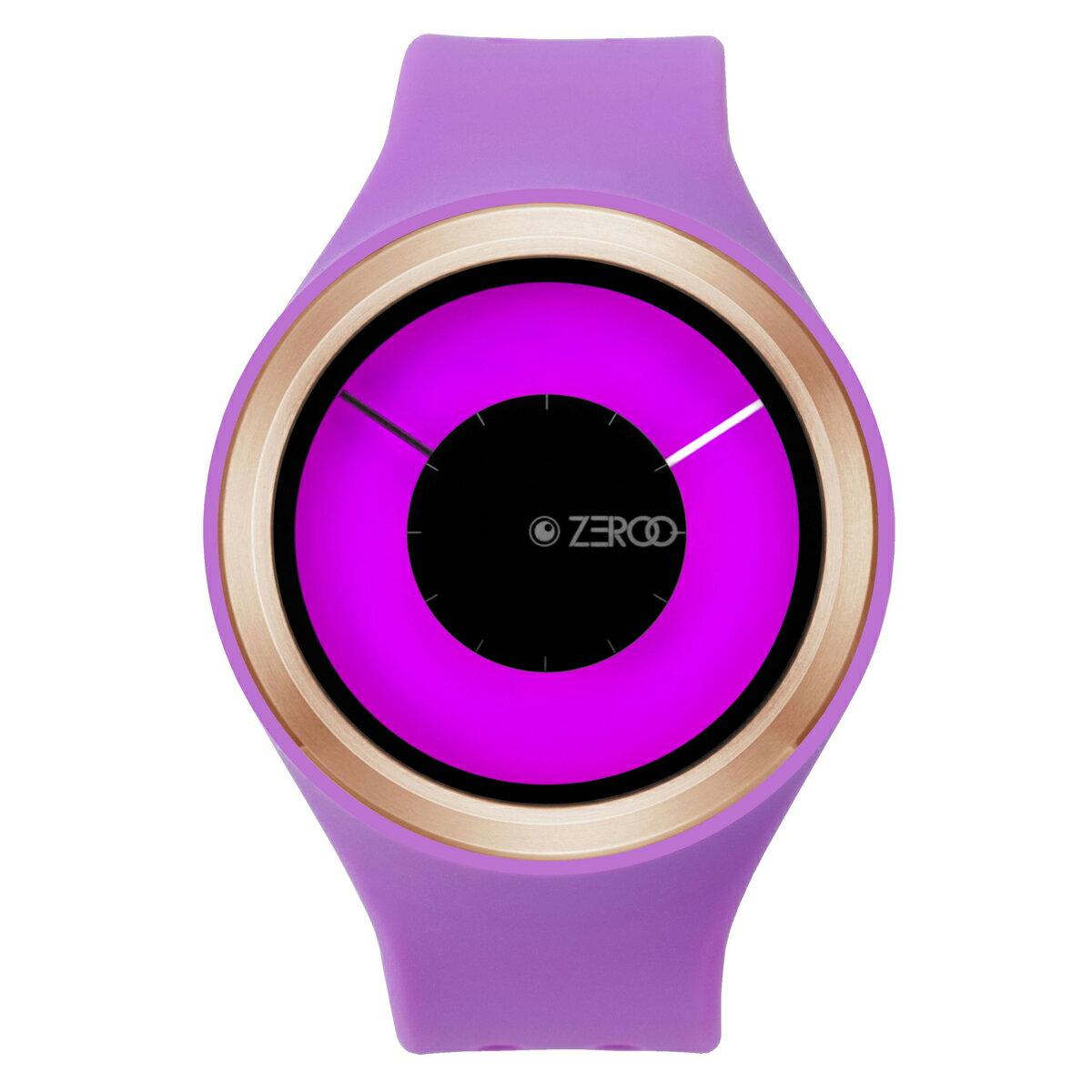 ZEROO MAGIA AURORA ゼロ 電池式クォーツ 腕時計 [W00801B05SR08] パープル デザインウォッチ ペア用 メンズ レディース ユニセックス おしゃれ時計 デザイナーズ