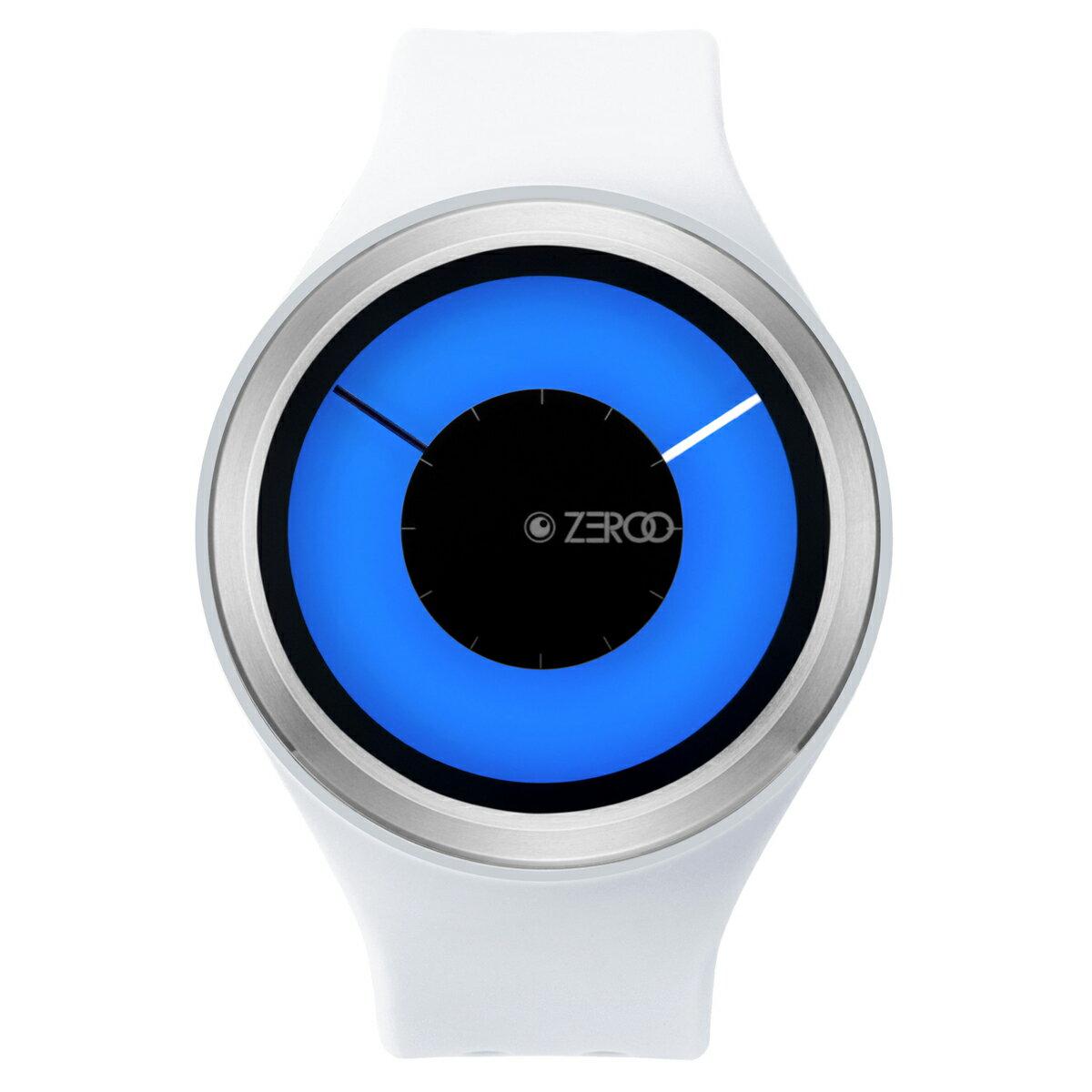ZEROO MAGIA AURORA ゼロ 電池式クォーツ 腕時計 [W00802B01SR01] ホワイト デザインウォッチ ペア用 メンズ レディース ユニセックス おしゃれ時計 デザイナーズ