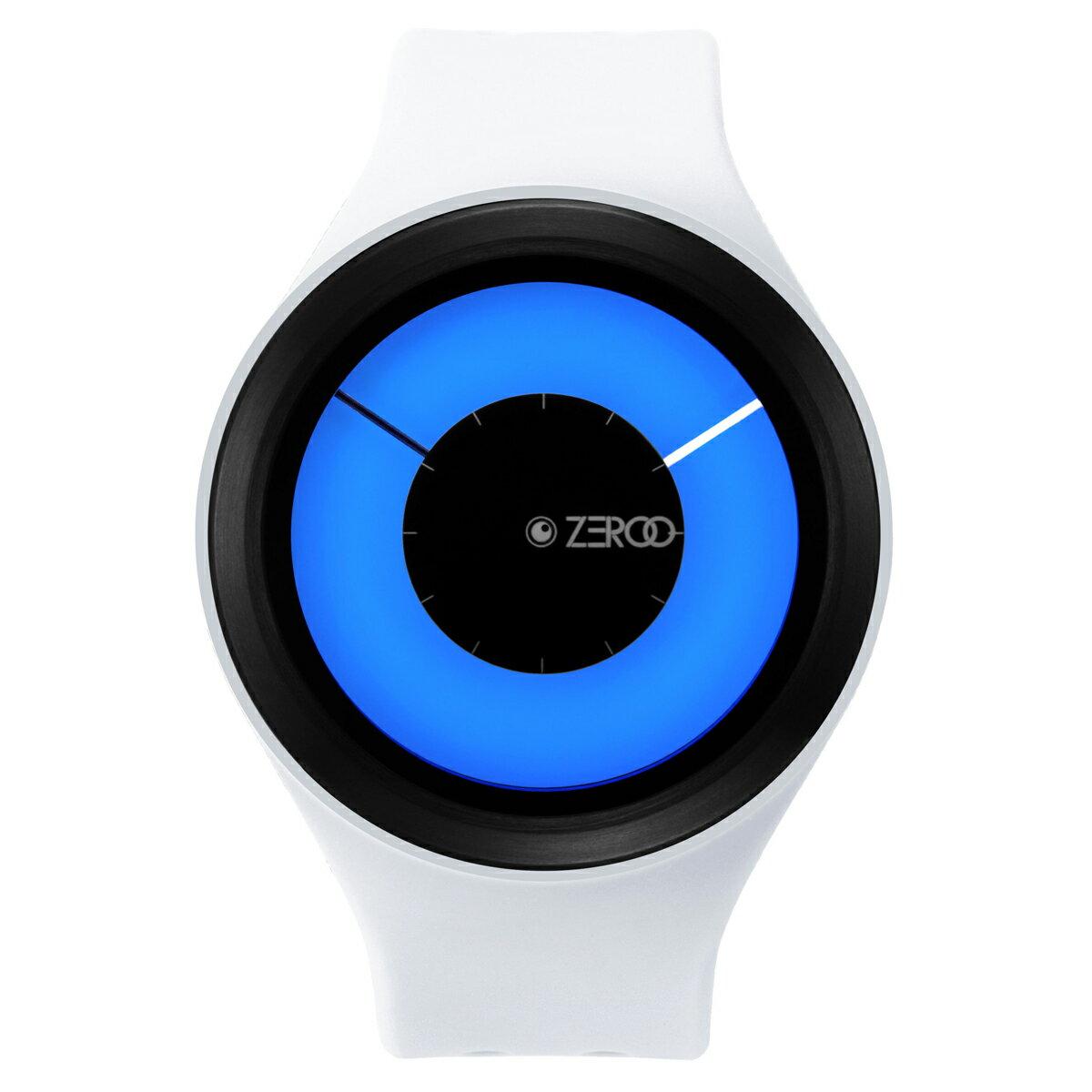 ZEROO MAGIA AURORA ゼロ 電池式クォーツ 腕時計 [W00802B03SR01] ホワイト デザインウォッチ ペア用 メンズ レディース ユニセックス おしゃれ時計 デザイナーズ