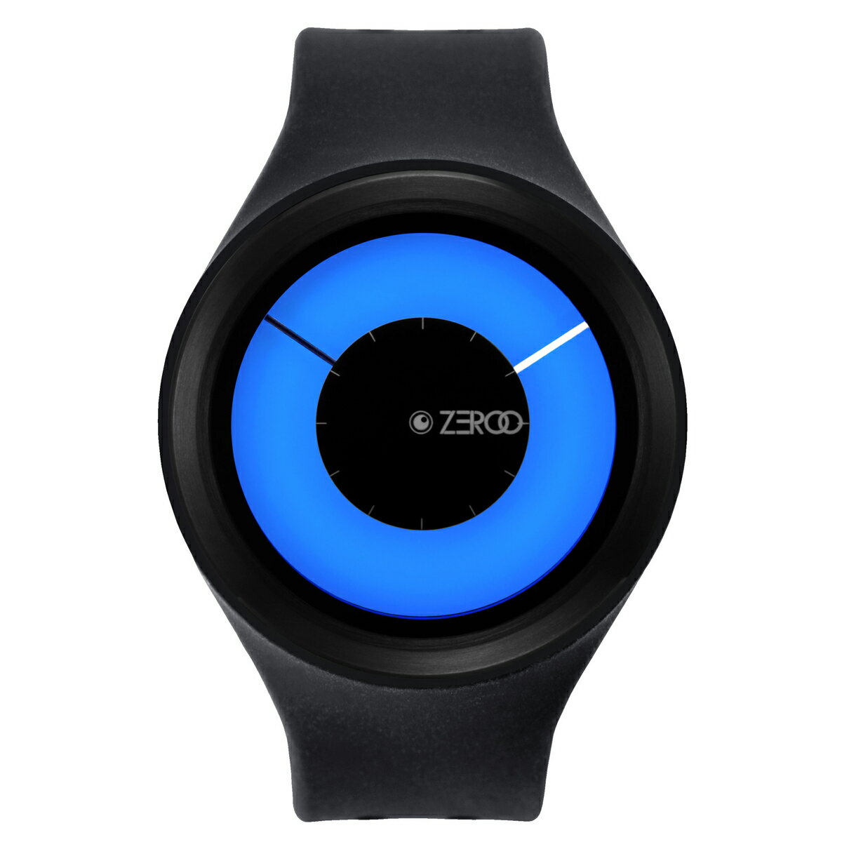 ZEROO MAGIA AURORA ゼロ 電池式クォーツ 腕時計 [W00802B03SR02] ブラック デザインウォッチ ペア用 メンズ レディース ユニセックス おしゃれ時計 デザイナーズ