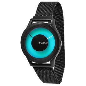 ZEROO ゼロ 電池式クォーツ 腕時計 [W00802B03ZMBK] MAGIA AURORA