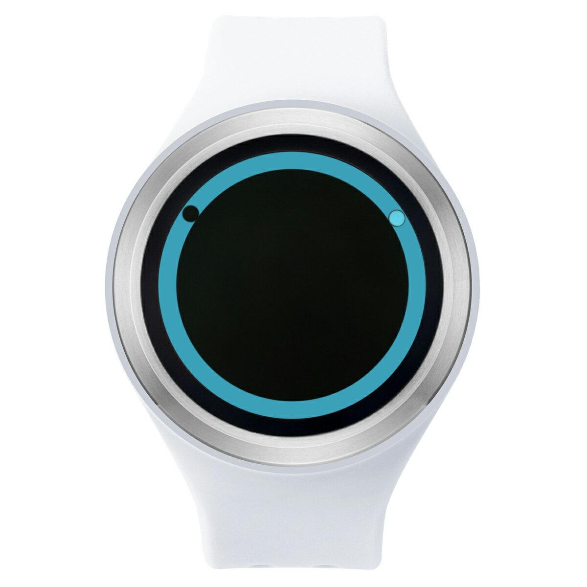 ZEROO PLANET ECLIPSE ゼロ 電池式クォーツ 腕時計 [W00901B01SR01] ホワイト デザインウォッチ ペア用 メンズ レディース ユニセックス おしゃれ時計 デザイナーズ