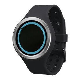 ZEROO PLANET ECLIPSE ゼロ 電池式クォーツ 腕時計 [W00901B01SR02] ブラック デザインウォッチ ペア用 メンズ レディース ユニセックス おしゃれ時計 デザイナーズ