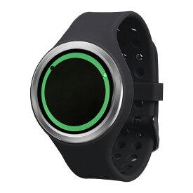 ZEROO PLANET ECLIPSE ゼロ 電池式クォーツ 腕時計 [W00902B01SR02] ブラック デザインウォッチ ペア用 メンズ レディース ユニセックス おしゃれ時計 デザイナーズ