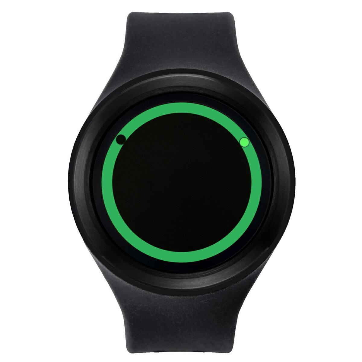 ZEROO PLANET ECLIPSE ゼロ 電池式クォーツ 腕時計 [W00902B03SR02] ブラック デザインウォッチ ペア用 メンズ レディース ユニセックス おしゃれ時計 デザイナーズ