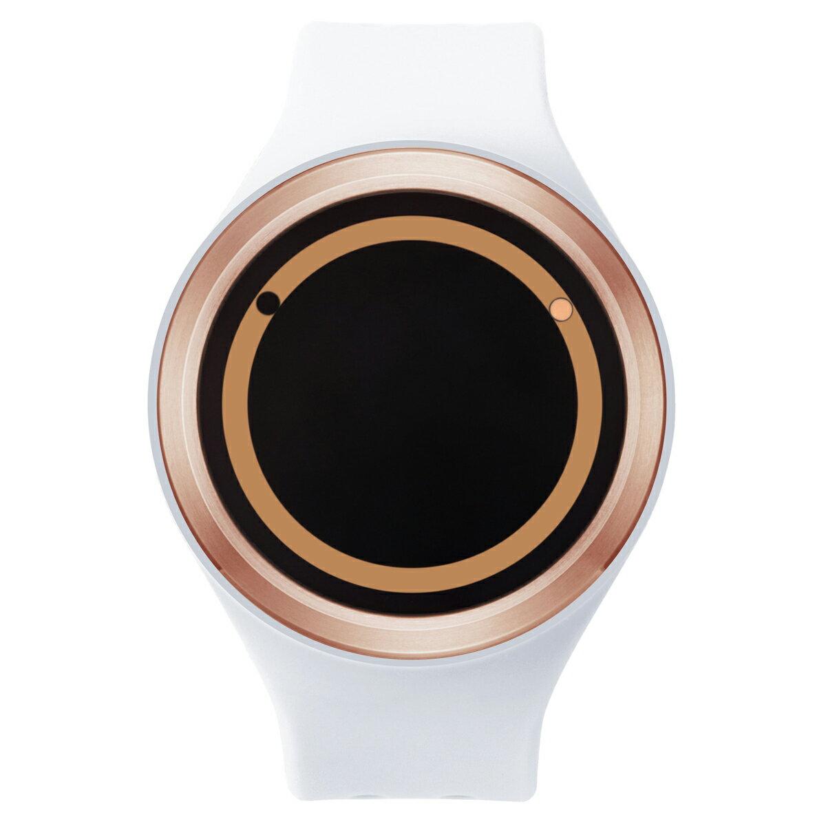 ZEROO PLANET ECLIPSE ゼロ 電池式クォーツ 腕時計 [W00903B05SR01] ホワイト デザインウォッチ ペア用 メンズ レディース ユニセックス おしゃれ時計 デザイナーズ