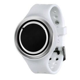 ZEROO PLANET ECLIPSE ゼロ 電池式クォーツ 腕時計 [W00904B01SR01] ホワイト デザインウォッチ ペア用 メンズ レディース ユニセックス おしゃれ時計 デザイナーズ