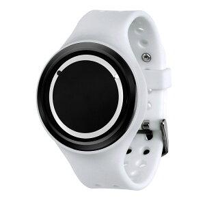 ZEROOPLANETECLIPSEゼロ電池式クォーツ腕時計[W00904B03SR01]ホワイトデザインウォッチペア用メンズレディースユニセックスおしゃれ時計デザイナーズ
