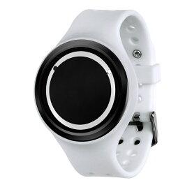 ZEROO PLANET ECLIPSE ゼロ 電池式クォーツ 腕時計 [W00904B03SR01] ホワイト デザインウォッチ ペア用 メンズ レディース ユニセックス おしゃれ時計 デザイナーズ