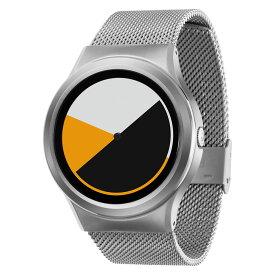 ZEROO COLORED TIME ゼロ 電池式クォーツ 腕時計 [W01001B01SM01] イエロー デザインウォッチ ペア用 メンズ レディース ユニセックス おしゃれ時計 デザイナーズ