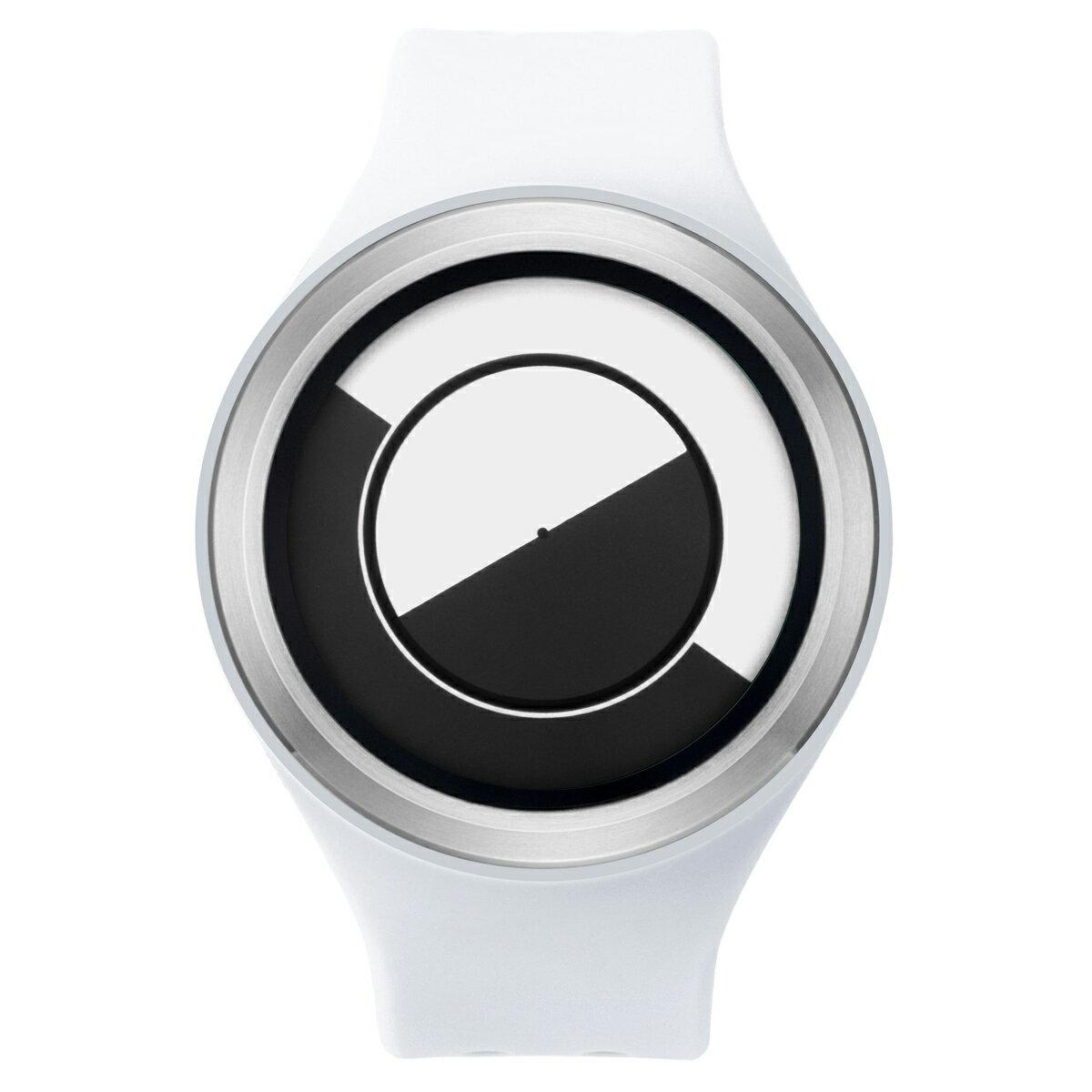 ZEROO QUARTER MOON ゼロ 電池式クォーツ 腕時計 [W01001B01SR01] ホワイト デザインウォッチ ペア用 メンズ レディース ユニセックス おしゃれ時計 デザイナーズ