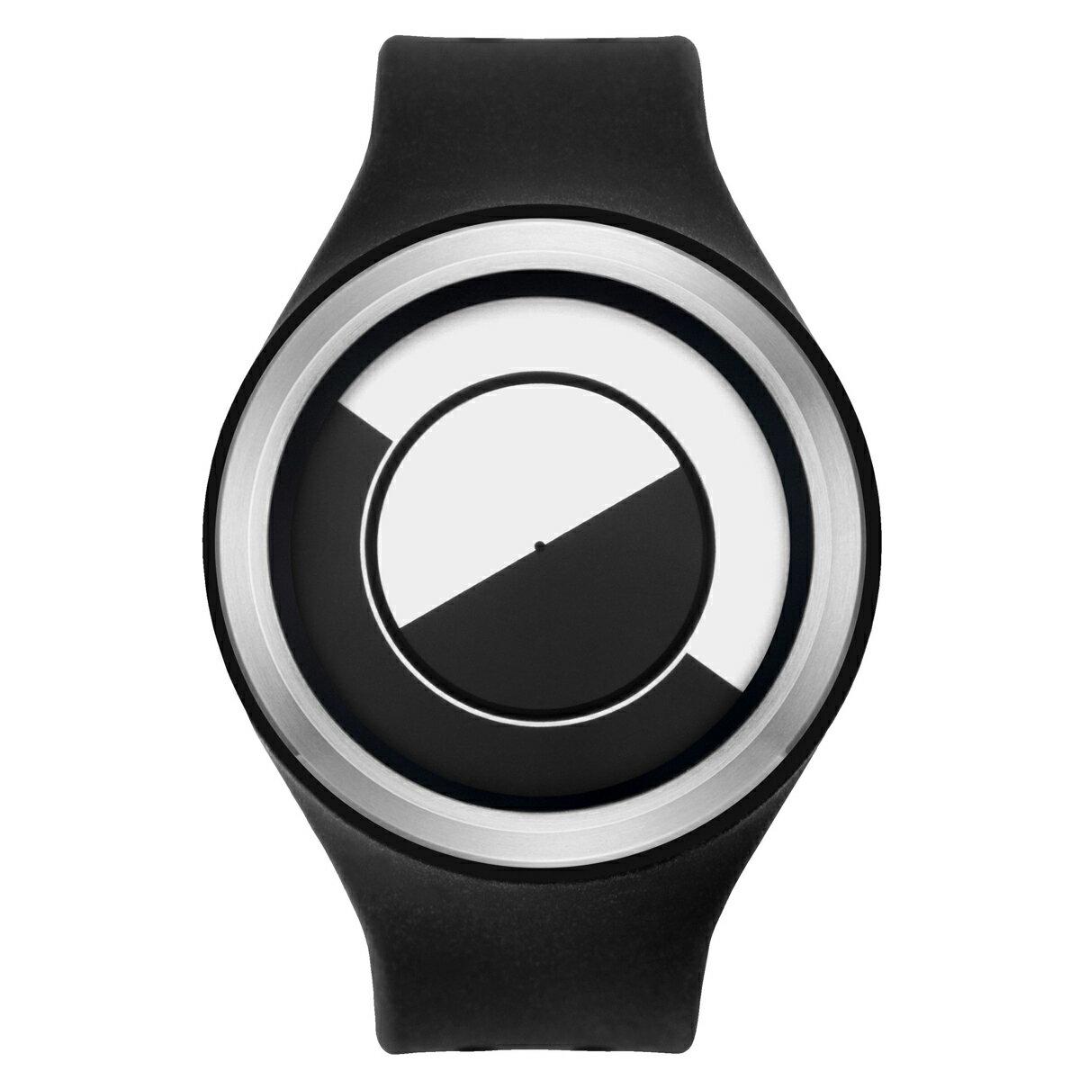 ZEROO QUARTER MOON ゼロ 電池式クォーツ 腕時計 [W01001B01SR02] ブラック デザインウォッチ ペア用 メンズ レディース ユニセックス おしゃれ時計 デザイナーズ