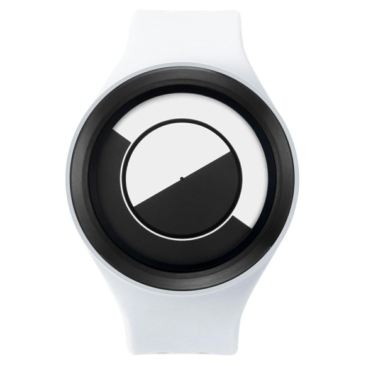 ZEROO QUARTER MOON ゼロ 電池式クォーツ 腕時計 [W01001B03SR01] ホワイト デザインウォッチ ペア用 メンズ レディース ユニセックス おしゃれ時計 デザイナーズ