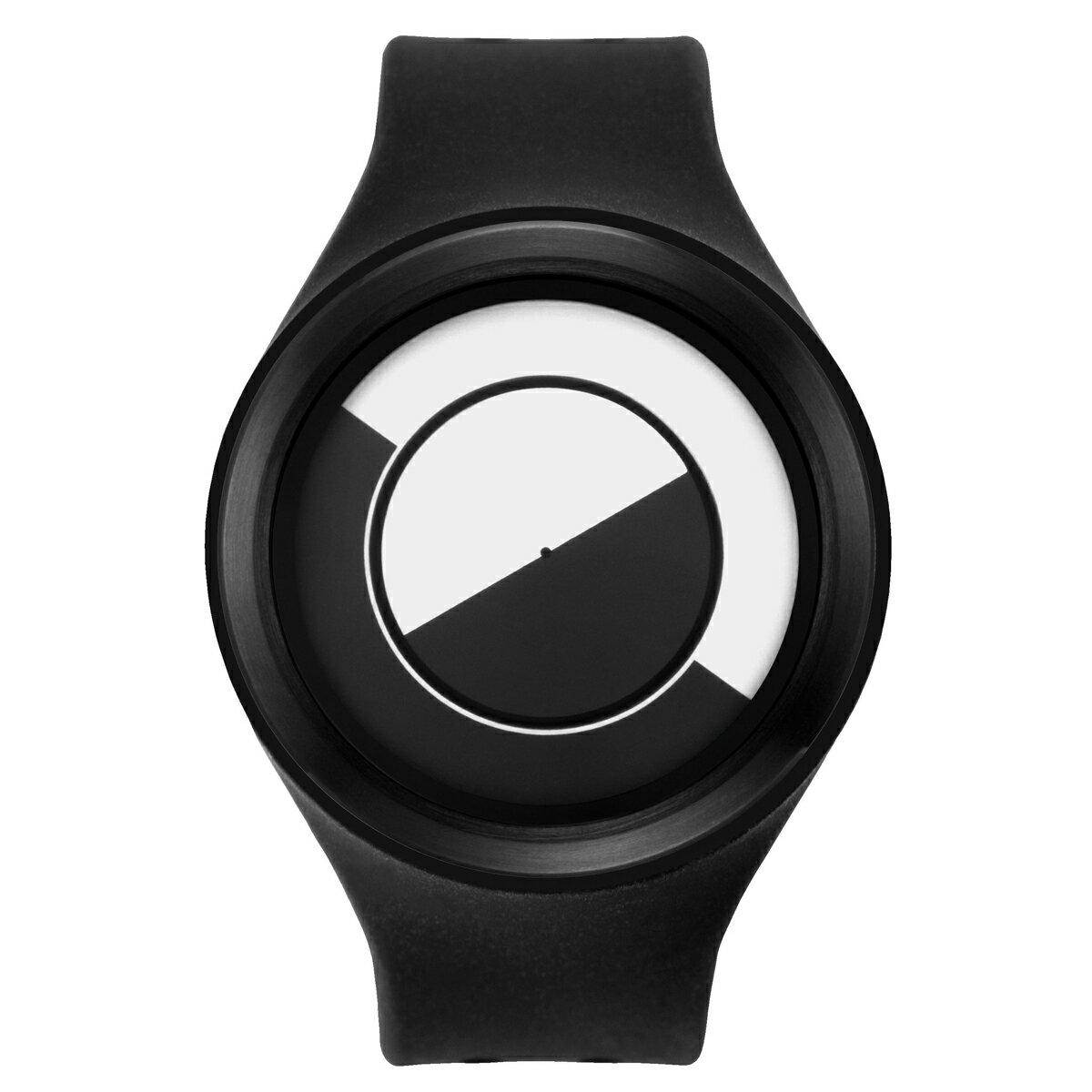 ZEROO QUARTER MOON ゼロ 電池式クォーツ 腕時計 [W01001B03SR02] ブラック デザインウォッチ ペア用 メンズ レディース ユニセックス おしゃれ時計 デザイナーズ