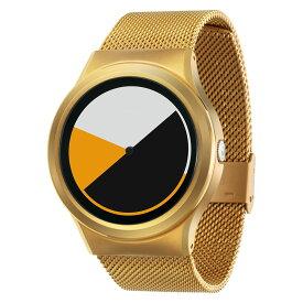 ZEROO COLORED TIME ゼロ 電池式クォーツ 腕時計 [W01001B04SM04] イエロー デザインウォッチ ペア用 メンズ レディース ユニセックス おしゃれ時計 デザイナーズ