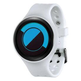 ZEROO QUARTER MOON ゼロ 電池式クォーツ 腕時計 [W01002B03SR01] ホワイト デザインウォッチ ペア用 メンズ レディース ユニセックス おしゃれ時計 デザイナーズ