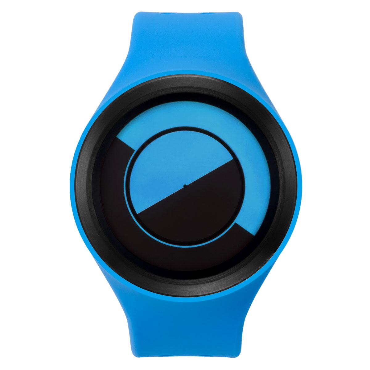 ZEROO QUARTER MOON ゼロ 電池式クォーツ 腕時計 [W01002B03SR04] ブルー デザインウォッチ ペア用 メンズ レディース ユニセックス おしゃれ時計 デザイナーズ