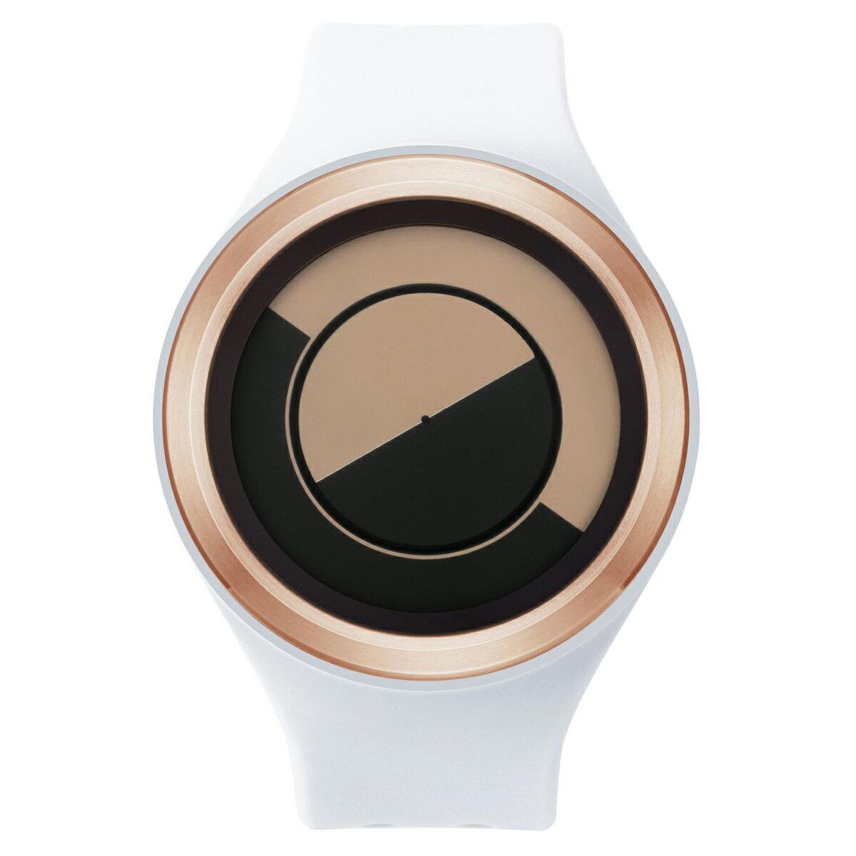 ZEROO QUARTER MOON ゼロ 電池式クォーツ 腕時計 [W01003B05SR01] ホワイト デザインウォッチ ペア用 メンズ レディース ユニセックス おしゃれ時計 デザイナーズ