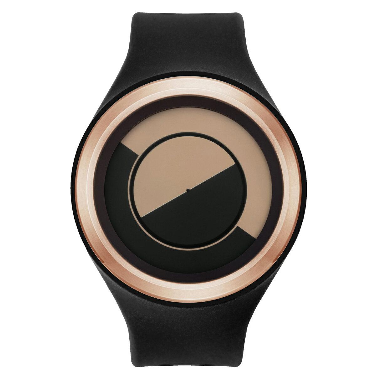 ZEROO QUARTER MOON ゼロ 電池式クォーツ 腕時計 [W01003B05SR02] ブラック デザインウォッチ ペア用 メンズ レディース ユニセックス おしゃれ時計 デザイナーズ