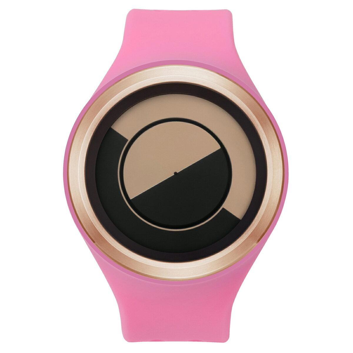 ZEROO QUARTER MOON ゼロ 電池式クォーツ 腕時計 [W01003B05SR06] ピンク デザインウォッチ ペア用 メンズ レディース ユニセックス おしゃれ時計 デザイナーズ