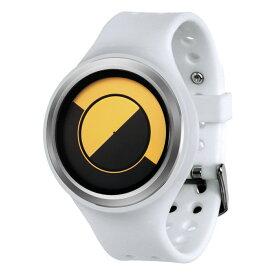 ZEROO QUARTER MOON ゼロ 電池式クォーツ 腕時計 [W01004B01SR01] ホワイト デザインウォッチ ペア用 メンズ レディース ユニセックス おしゃれ時計 デザイナーズ