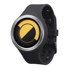 ZEROO QUARTER MOON ゼロ 電池式クォーツ 腕時計 [W01004B01SR02] ブラック デザインウォッチ ペア用 メンズ レディース ユニセックス おしゃれ時計 デザイナーズ