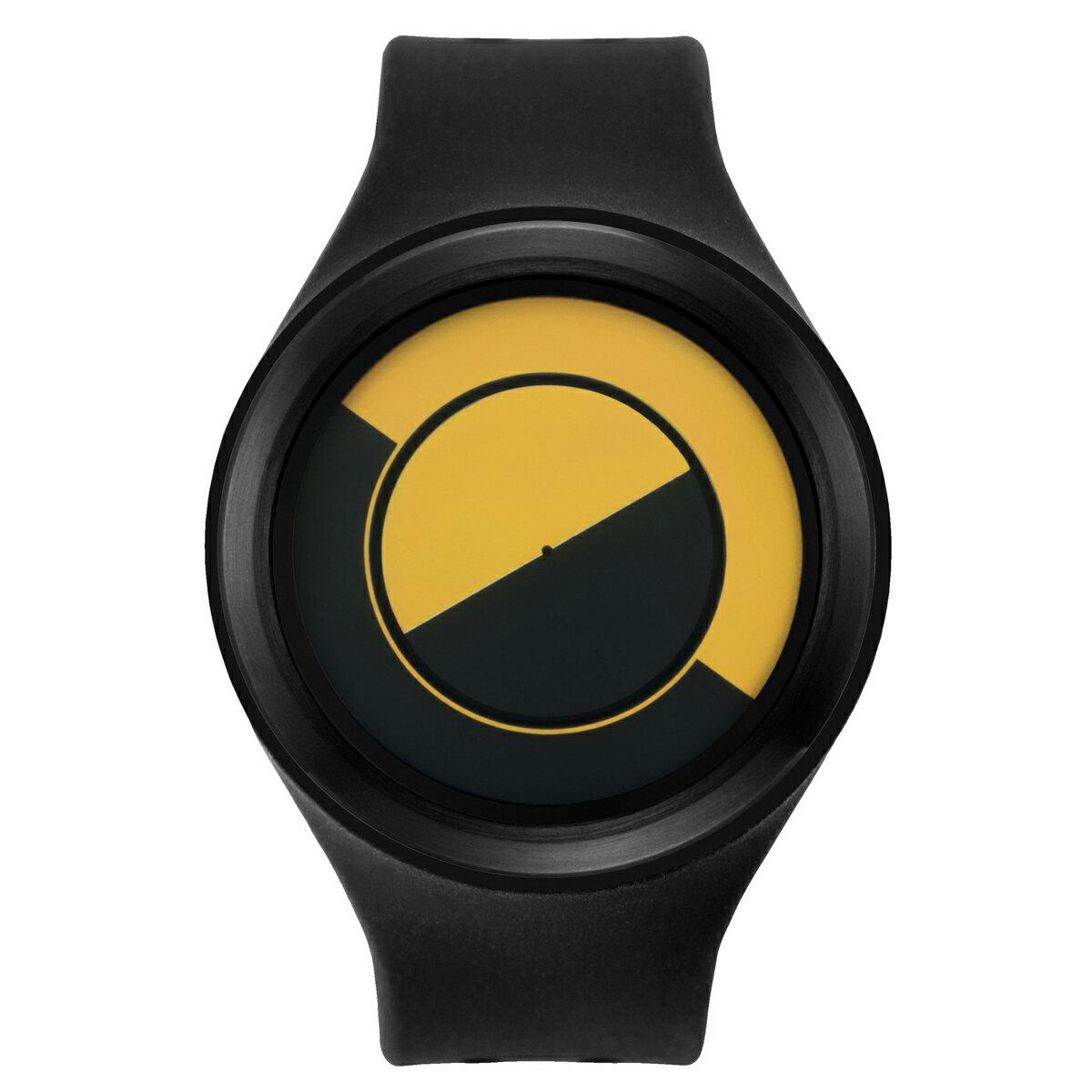 ZEROO QUARTER MOON ゼロ 電池式クォーツ 腕時計 [W01004B03SR02] ブラック デザインウォッチ ペア用 メンズ レディース ユニセックス おしゃれ時計 デザイナーズ