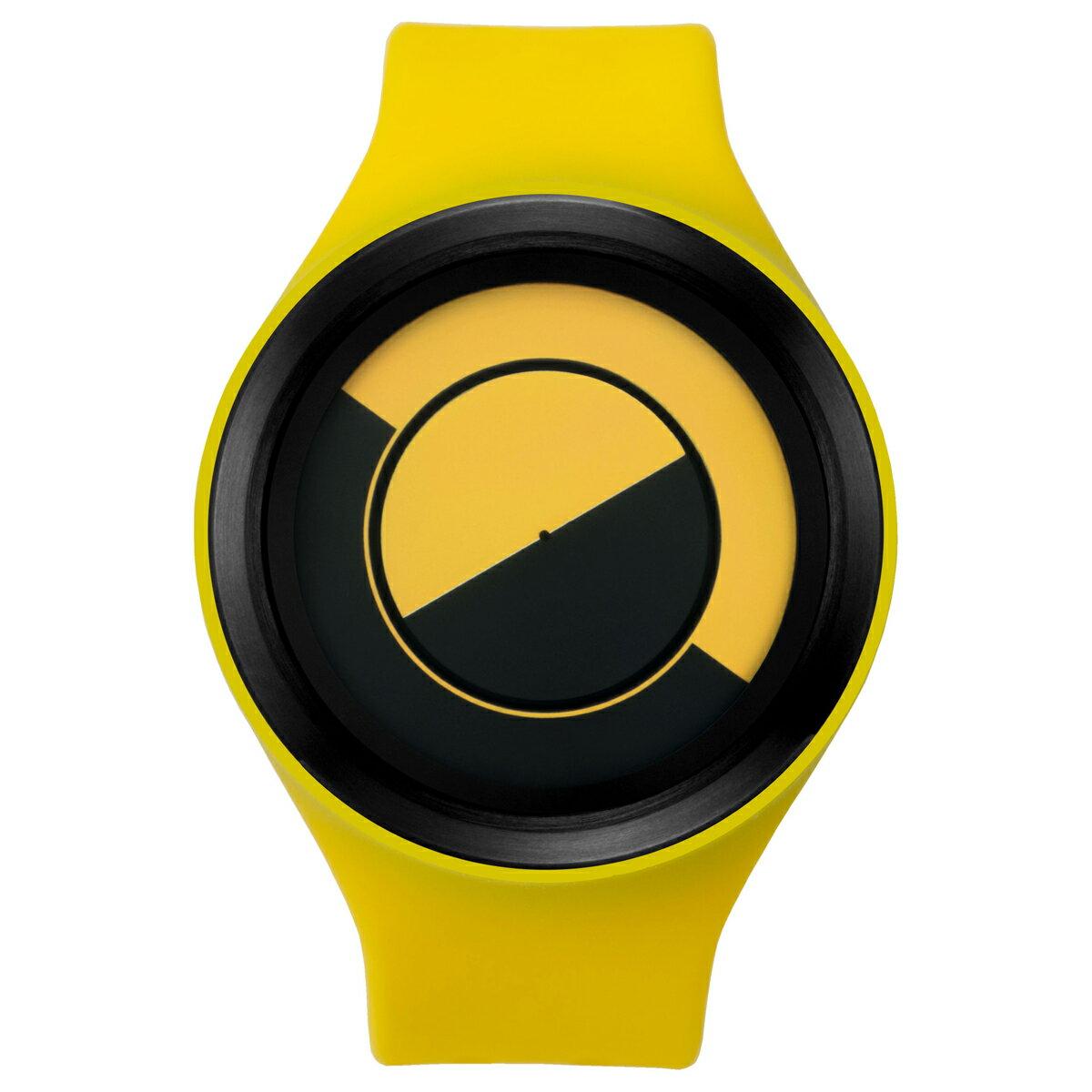 ZEROO QUARTER MOON ゼロ 電池式クォーツ 腕時計 [W01004B03SR09] イエロー デザインウォッチ ペア用 メンズ レディース ユニセックス おしゃれ時計 デザイナーズ