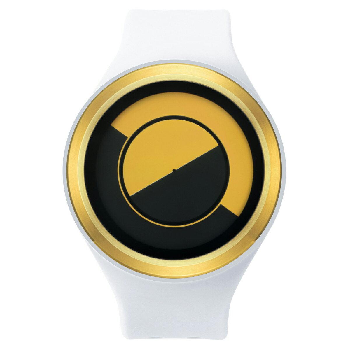 ZEROO QUARTER MOON ゼロ 電池式クォーツ 腕時計 [W01004B04SR01] ホワイト デザインウォッチ ペア用 メンズ レディース ユニセックス おしゃれ時計 デザイナーズ