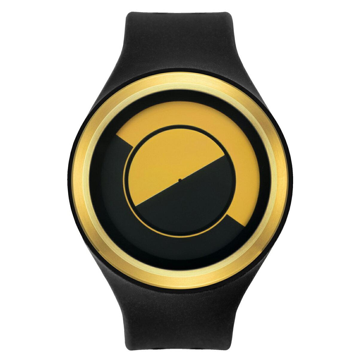 ZEROO QUARTER MOON ゼロ 電池式クォーツ 腕時計 [W01004B04SR02] ブラック デザインウォッチ ペア用 メンズ レディース ユニセックス おしゃれ時計 デザイナーズ