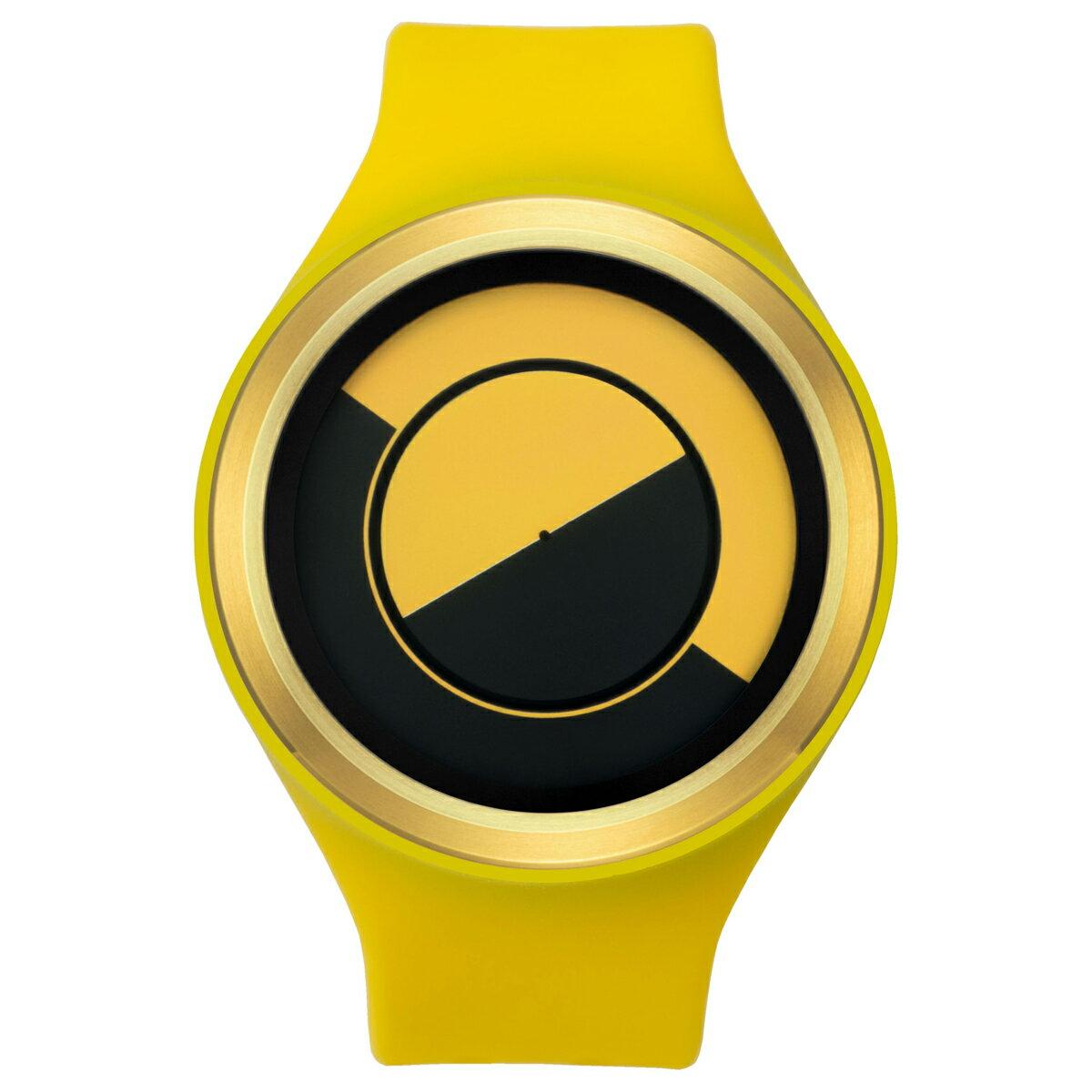 ZEROO QUARTER MOON ゼロ 電池式クォーツ 腕時計 [W01004B04SR09] イエロー デザインウォッチ ペア用 メンズ レディース ユニセックス おしゃれ時計 デザイナーズ