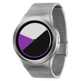ZEROO COLORED TIME ゼロ 電池式クォーツ 腕時計 [W01005B01SM01] パープル デザインウォッチ ペア用 メンズ レディース ユニセックス おしゃれ時計 デザイナーズ