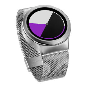 ZEROOCOLOREDTIMEゼロ電池式クォーツ腕時計[W01005B01SM01]パープル