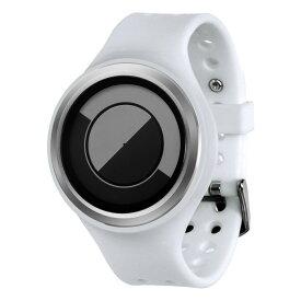 ZEROO QUARTER MOON ゼロ 電池式クォーツ 腕時計 [W01005B01SR01] ホワイト デザインウォッチ ペア用 メンズ レディース ユニセックス おしゃれ時計 デザイナーズ