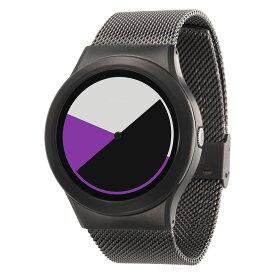 ZEROO COLORED TIME ゼロ 電池式クォーツ 腕時計 [W01005B02SM02] パープル デザインウォッチ ペア用 メンズ レディース ユニセックス おしゃれ時計 デザイナーズ