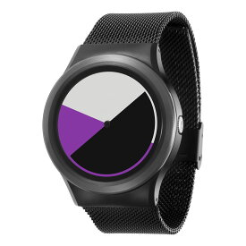 ZEROO COLORED TIME ゼロ 電池式クォーツ 腕時計 [W01005B03SM03] パープル デザインウォッチ ペア用 メンズ レディース ユニセックス おしゃれ時計 デザイナーズ