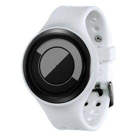 ZEROO QUARTER MOON ゼロ 電池式クォーツ 腕時計 [W01005B03SR01] ホワイト デザインウォッチ ペア用 メンズ レディース ユニセックス おしゃれ時計 デザイナーズ