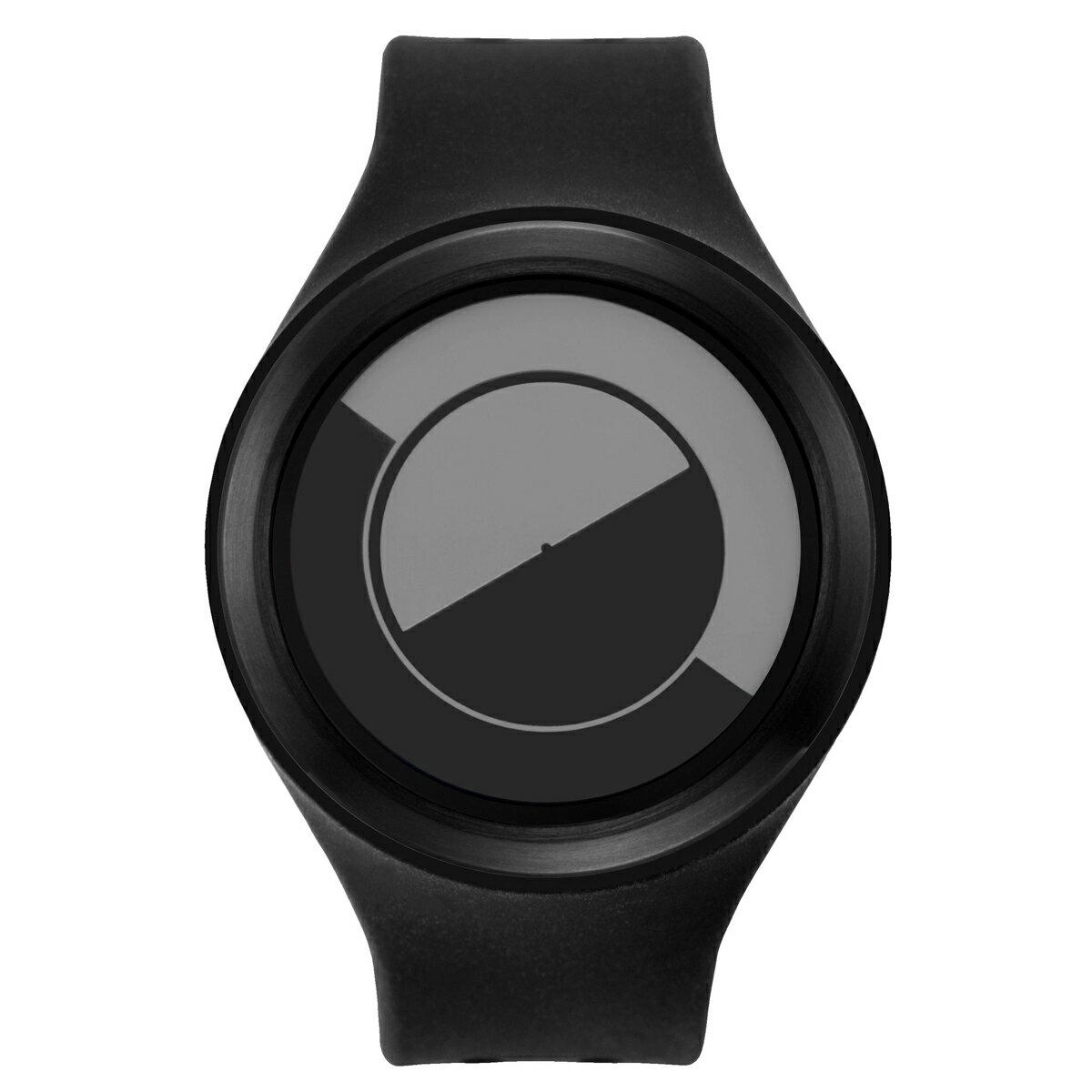 ZEROO QUARTER MOON ゼロ 電池式クォーツ 腕時計 [W01005B03SR02] ブラック デザインウォッチ ペア用 メンズ レディース ユニセックス おしゃれ時計 デザイナーズ
