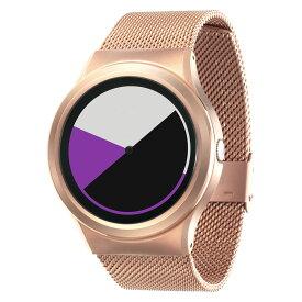 ZEROO COLORED TIME ゼロ 電池式クォーツ 腕時計 [W01005B05SM05] パープル デザインウォッチ ペア用 メンズ レディース ユニセックス おしゃれ時計 デザイナーズ