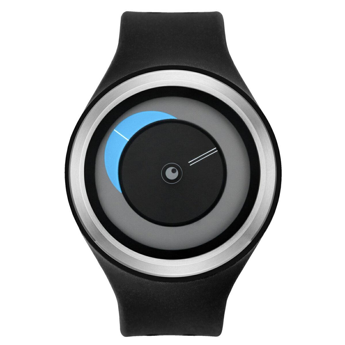 ZEROO CRESCENT MOON ゼロ 電池式クォーツ 腕時計 [W01101B01SR02] ブラック デザインウォッチ ペア用 メンズ レディース ユニセックス おしゃれ時計 デザイナーズ
