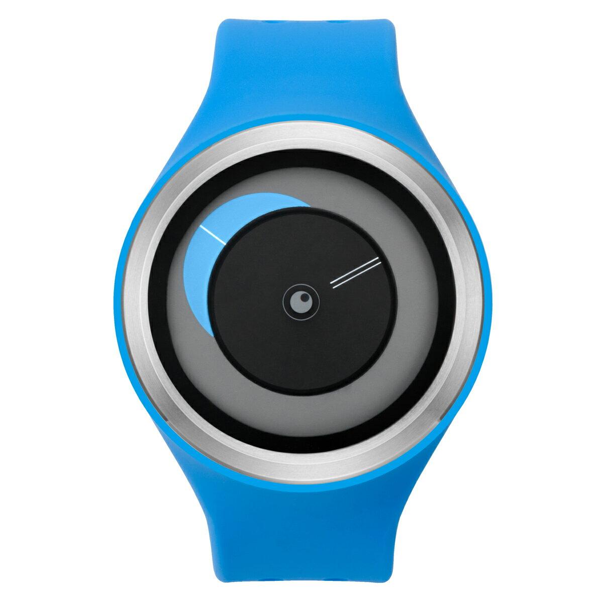 ZEROO CRESCENT MOON ゼロ 電池式クォーツ 腕時計 [W01101B01SR04] ブルー デザインウォッチ ペア用 メンズ レディース ユニセックス おしゃれ時計 デザイナーズ