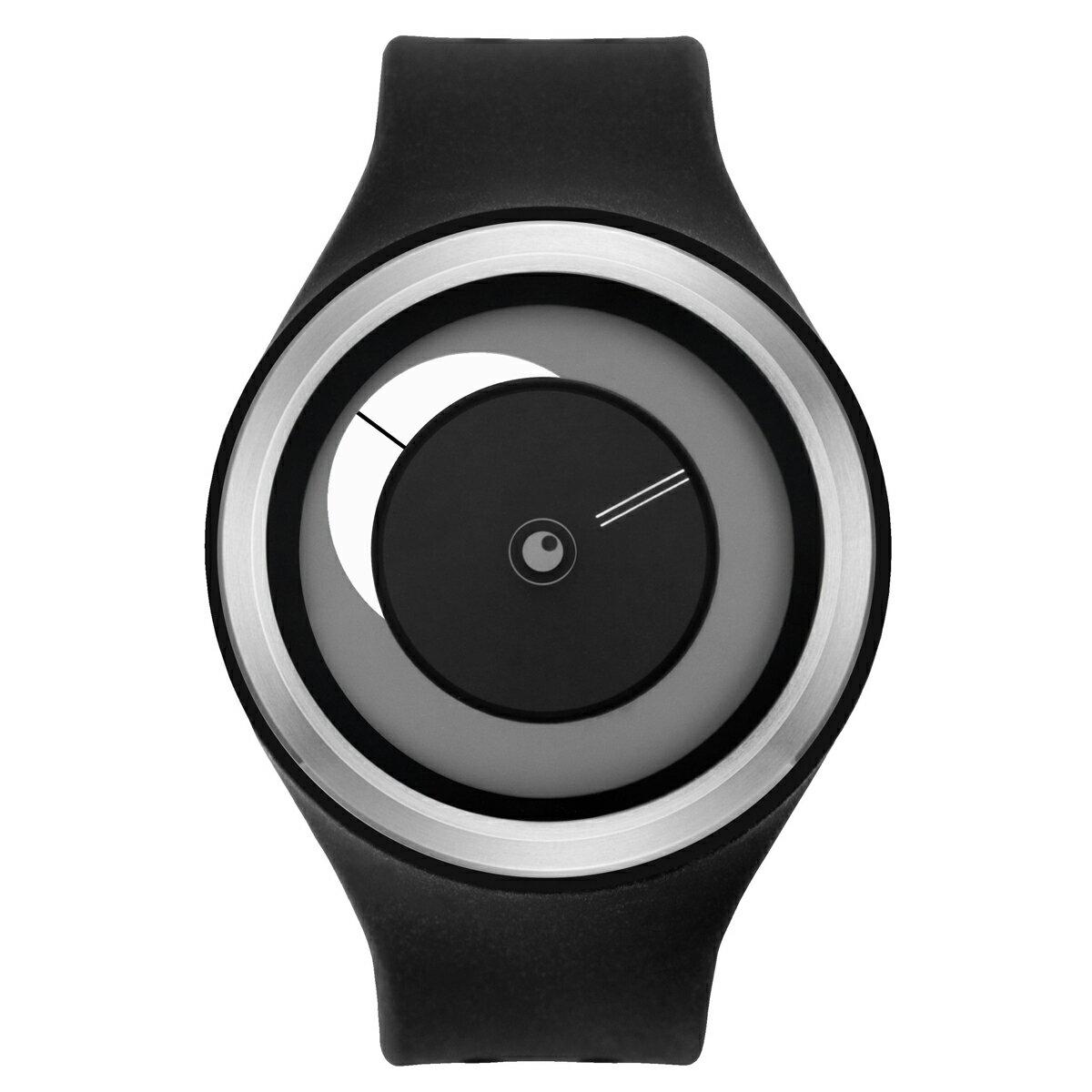 ZEROO CRESCENT MOON ゼロ 電池式クォーツ 腕時計 [W01102B01SR02] ブラック デザインウォッチ ペア用 メンズ レディース ユニセックス おしゃれ時計 デザイナーズ