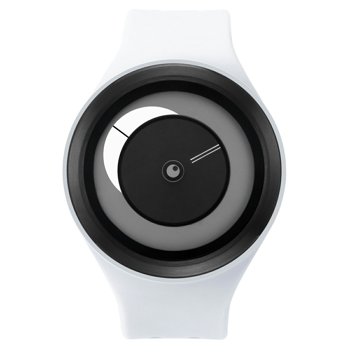 ZEROO CRESCENT MOON ゼロ 電池式クォーツ 腕時計 [W01102B03SR01] ホワイト デザインウォッチ ペア用 メンズ レディース ユニセックス おしゃれ時計 デザイナーズ